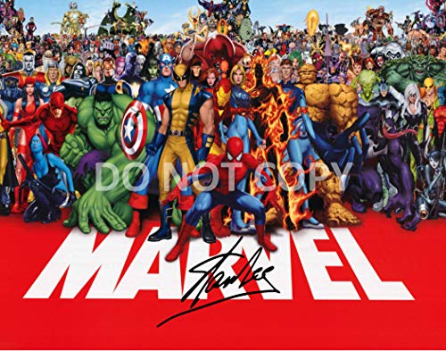 Stan Lee comic book legend reprint signed autographed Marvel superstars 11x14 poster photo #1 RP from Loa_Autographs