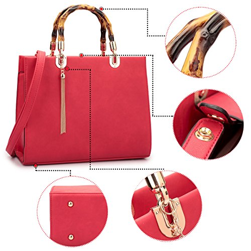 Top Bag Wallet Handle 2 Large Shoulder red Set Purse Designer 2575 Handbag Satchel pieces I1zYa