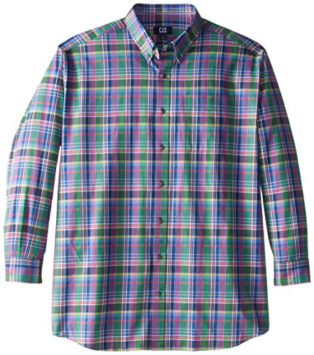 Richmond Plaid - Cutter & Buck Men's Big-Tall Long Sleeve Richmond Plaid, Multi, 4X/Big