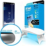 Dome Glass Galaxy Note 8 Screen Protector, Full 3D Curved Edge Tempered Glass Shield [Liquid Dispersion Tech] Easy Install Kit by Whitestone for Samsung Galaxy Note 8 (2017) - 1 Pack