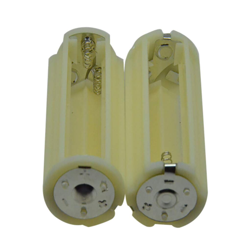 Huangou ❤ 2pcs AA Series Conversion Tube ❤ Parallel Cell Adapter Battery Holder DC 4.5V Case Box Convert 3 AA 1 C Size (White, 30x58.2mm)