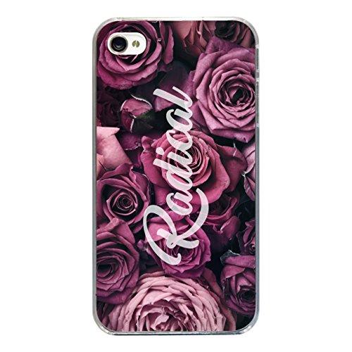 """Disagu Design Case Coque pour Apple iPhone 4 Housse etui coque pochette """"Rosen_Radical"""""""