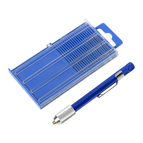Hss Drill Bit Display (TOOGOO(R) 17pc Fine Tiny Numbered 61-80 Mini Jeweler's Drill Bit Set Pin Vise Chuck Vice)