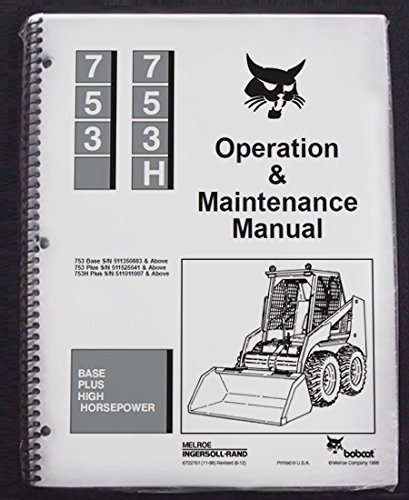 51rnI5QjdnL amazon com bobcat 753 skid steer operator's owners operation