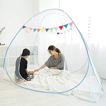 ef2d0f49c541d6 kerätä ベビー 蚊帳 ワンタッチ かわいい ガーランド付き ゆったり添い寝ができる 180cmx200cm 組立説明書付
