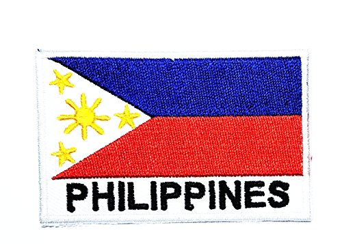 (HHO Philippines Country Flag Patch National flag Patch Embroidered DIY Patches, Applique Sew Iron on for everyone Craft Patch for Bags Jackets Jeans Clothes Patch Jacket T-shirt Sew Iron on Costume)