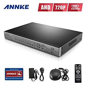 ANNKE 24-Channel H.264 Real-Time High Resolution Surveillance DVR Recorder, HDMI 1080P Video Output Security Standalone DVR Video Recorder, No HDD Included from ANNKE