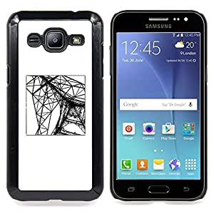 - Eifel Tower Paris Construction Engineer - - Snap-On Rugged Hard Cover Case Funny HouseFOR Samsung Galaxy J2