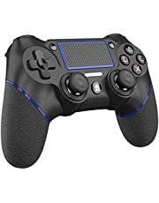 TopACE Replacement for PS4 Controller, Wireless Controller for Ps4/Pro/3/Slim/PC, Touch Panel Gamepad with Dual Vibration and Audio Function, Mini LED Indicator USB Cable and Anti-Slip