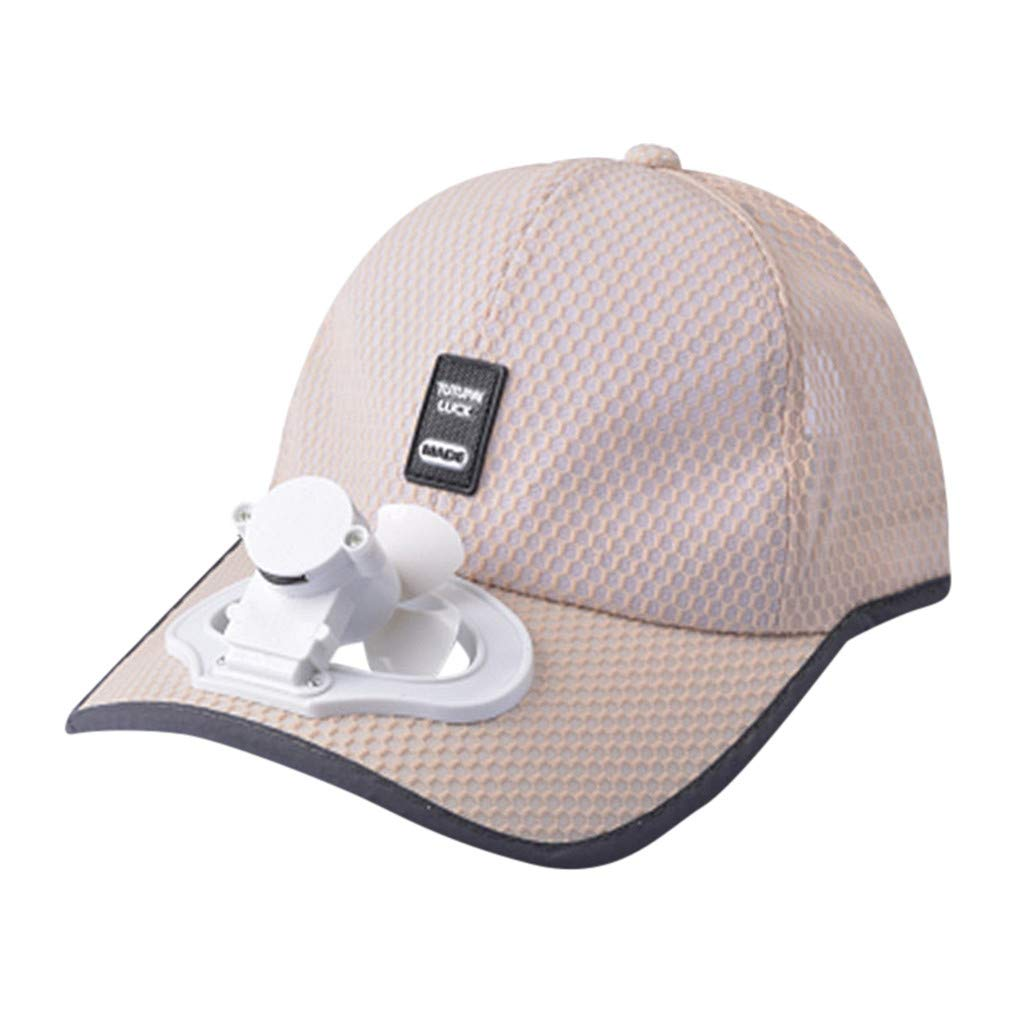 TIFENNY 2019 New Fan Cap Summer Fan Cooling Baseball Cap Hat USB Charging Breathable Shade Sunscreen Hat