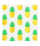 40count Luncheon Napkins, 3-Ply, Pack of 40(2 Packs of 20 Napkins)Beverage &Cocktail Napkins,Decorative Paper Napkins 5x5 inch,ideal for Wedding, Party, Birthday,Decoupage,gold pineapple,