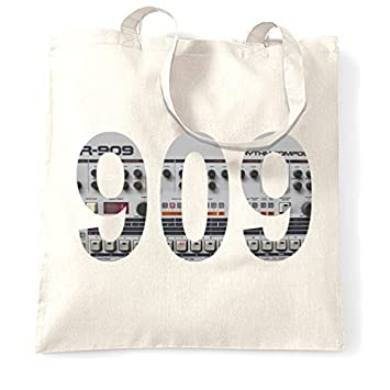 Amazon com: Tote Shopping Bag Gift 909 Classic Retro Synth