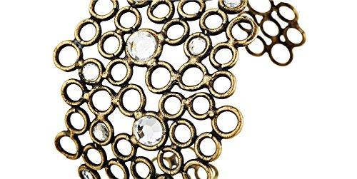 Stefano Poletti Bracelet manchette Luna, métallisation bronze, cristal Swarovski, Ø60mm