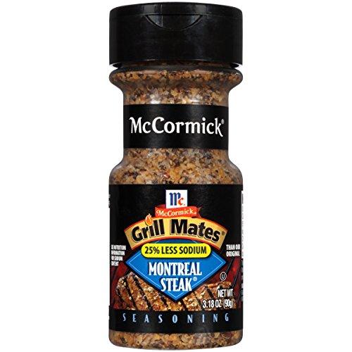McCormick Grill Mates 25% Less Sodium Montreal Steak Seasoning, 3.18 oz