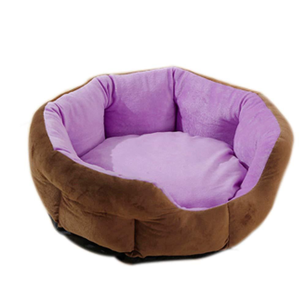 小型犬、犬小屋、室内の秋と冬の暖かさ、2kg未満のペットに適したかわいい創造的な深い睡眠の犬小屋 (色 : Red) B07P2RXSYT Purple  Purple