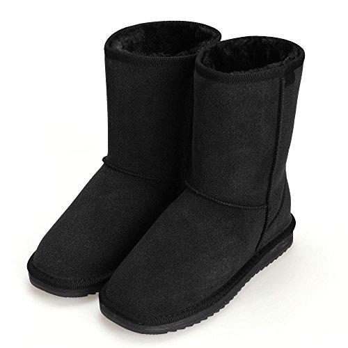 di Stivali invernali tacco stile piatto caldo da invernali popolare Nero neve scarpe donna semplice cooshional YqRwSAA