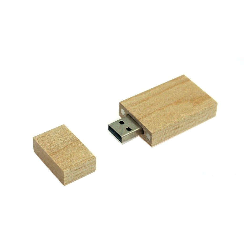LUCKCRAZY Memoria USB 2.0 para Pulgar Wooden USB Flash 16 GB