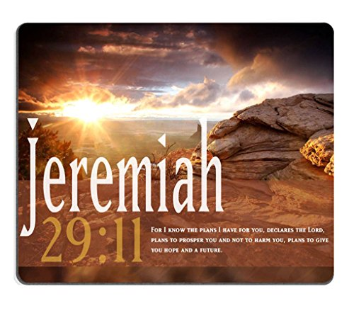 Smooffly Gaming Mouse Pad Custom,Jeremiah 29:11 Bible Verse Gaming Non-slip Rubber Large Mousepad Mat