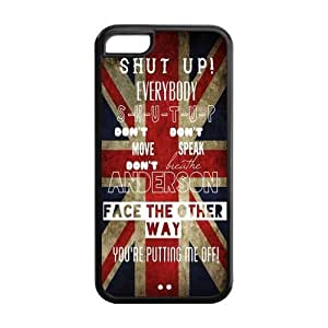 5C Phone Cases, Shut Up Hard TPU Rubber Cover Case for iPhone 5C