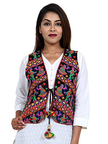 - Craft Trade Embroidered Kutchi Jacket Cotton Traditional Long Choli Indian Wear for Womens/Girls (Multicolor - 2)