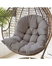 Hangmatten-stoelkussens, schommel-ei-stoelkussen, verdikt hangstoelkussen voor buitenterrassen, voor hangmat hangmand schommelstoel (Grey)