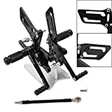 NEVERLAND Motorcycle CNC Adjustable Rearsets Footpegs Foot Pegs for GSXR1000 2000-2004,Suzuki GSXR600 2000-2005,Suzuki GSXR750 1996-2005,Suzuki SV650 2003-2008,SV650S 2003-2008 (Black)