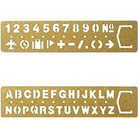 SUPVOX Marcador Plantilla de dibujo Numero Regla Alfanumérica