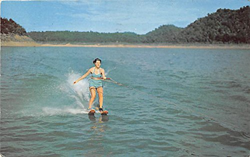 Water Skiing, South Holston Lake Abingdon, Virginia, VA, USA Old Vintage Postcard Post Card