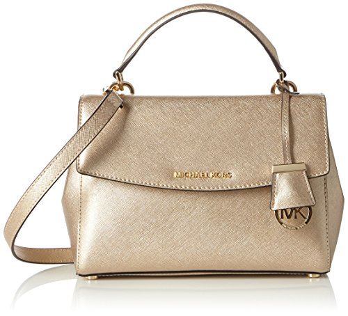 MICHAEL Michael Kors Womens Ava Small Top Handle Satchel (Pale Gold) by MICHAEL Michael Kors