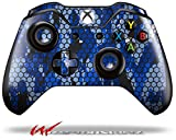 Cheap HEX Mesh Camo 01 Blue Bright – Decal Style Skin fits Microsoft XBOX One Wireless Controller (CONTROLLER NOT INCLUDED)
