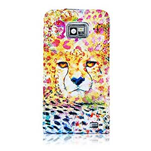 Flower Leopard Pattern PU Leather Full Body Case for Samsung Galaxy S2 I9100