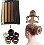 JJMG NEW 6pcs Bun Maker DIY Women Girls Perfect Hair Bun Making Styling French Twist Donut Bun Hairstyle Tool - 6 shades: Blond, Chestnut Color to Brunette
