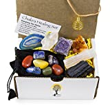 14 pc Chakra Sample Set/Crystal Healing Kit ~ 6 Amazing Minerals, 7 Chakra Gemstones Beautifully Polished And BONUS Spiral Cage Pendant Necklace + Plus Comes With COA and Information Card