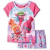 Trolls Big Girls' 2-Piece Pajama Set, Pink, 8