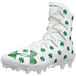 Under Armour Men's Highlight M.C. - Limited Edition, White/Team Kelly Green, 10.5 D(M) US