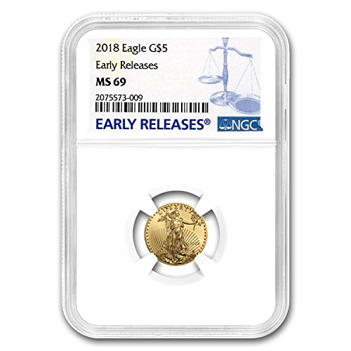 2018 1/10 oz Gold American Eagle MS-69 NGC (Early Releases) Gold MS-69 NGC