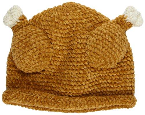 San Diego Hat Baby-Girls Newborn Chenile Turkey Hat, Brown, 6-12 Months (Baby Turkey Hat)