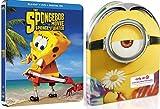 DVD : Minions + SpongeBob Movie Steelbook DVD + Blu Ray Exclusive Set Sponge Out of Water Deluxe Edition
