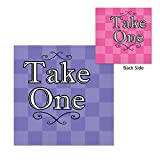 "Party Central Club Pack of 192 Decorative Two-Ply Alice In Wonderland ""Take One"" Checkered Napkins"