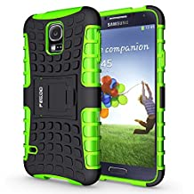 S5 Case,Pegoo Shockprooof Impact Resistant Hybrid Heavy Duty Dual Layer Armor Hard Plastic and Soft TPU With a Kickstand Protective bumper Cover Case for Samsung Galaxy S5 (Green)