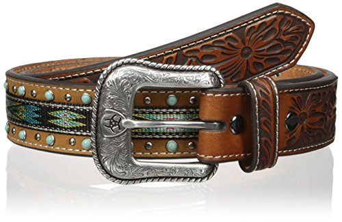 Ariat Men's Studded Turquoise Ribbon, Brown, 38