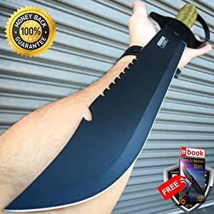 20'' JUNGLE MACHETE HUNTING KNIFE MILITARY TACTICAL SURVIVAL CAMPING SWORD NEW For Hunting Tactical Camping Cosplay + eBOOK by MOON KNIVES