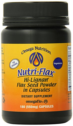 Omega Nutrition, Salut-Lignan, graines de lin Poudre capsules, 550 mg, 180-comte