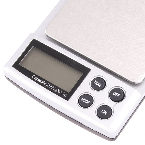2000g / 0.1g LCD Display Digtal Pocket Electronic Scale