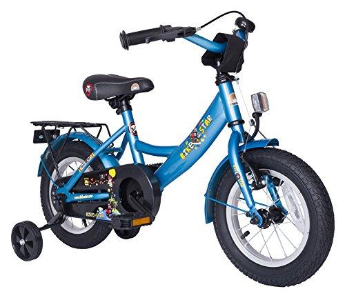 BIKESTAR® Premium Kinderfahrrad für sichere und sorgenfreie Spielfreude ab 3 Jahren ★ 12er Classic Edition ★ Abenteuerlich Blau