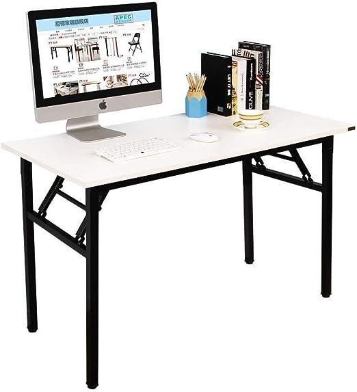NeedFurniture Mesa Escritorio Plegable 120x60 cm Mesa de Ordenador ...