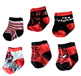 Marvel Spider-Man Superhero Infant Baby Boys Socks - 6 Pack (12-24 Months)