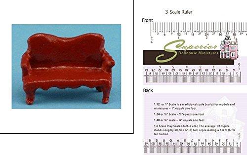 """Dollhouse Miniature 1/4"""" Scale Mini Sofa"""