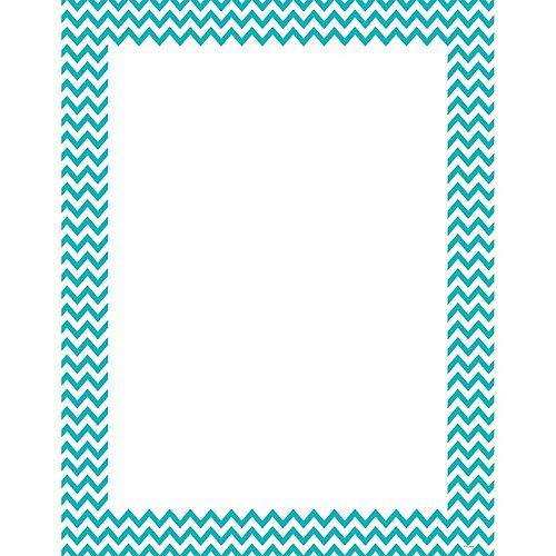 Creative Teaching Press Turquoise Chevron Poster Chart (0967)