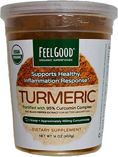 Feel Good USDA Organic Turmeric Powder, 16 Ounces